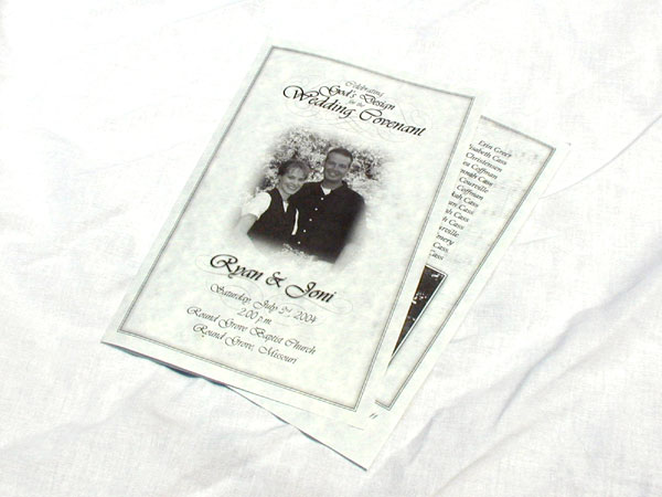 wedding programs examples